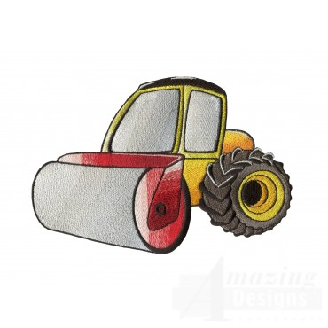 Road Roller Embroidery Design