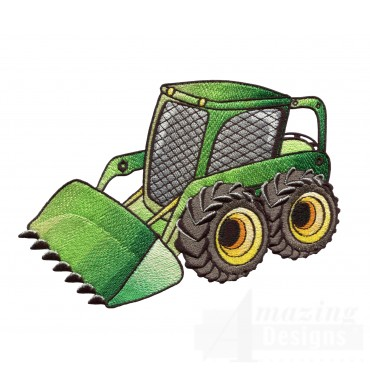 Skid Loader Embroidery Design