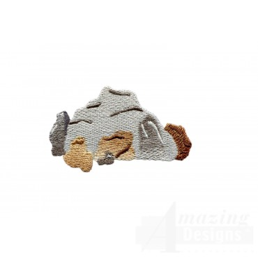 Rock Pile Embroidery Design