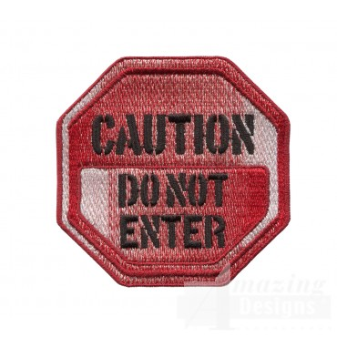 Caution Sign Embroidery Design