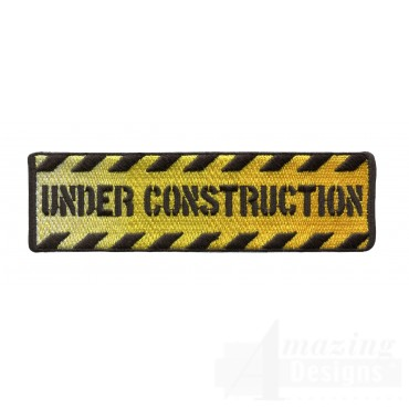 Under Construction Sign Embroidery Design