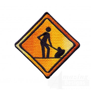 Men Working Sign Embroidery Design