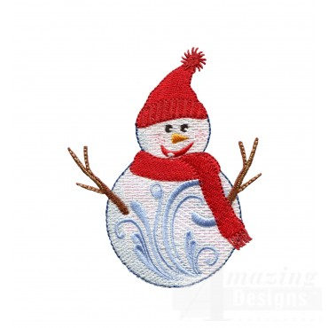 Iridescent Snowman 3 Embroidery Design