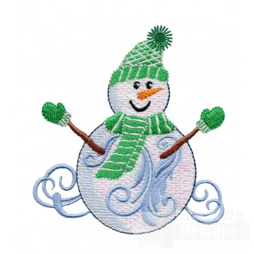 Iridescent Snowman 19 Embroidery Design