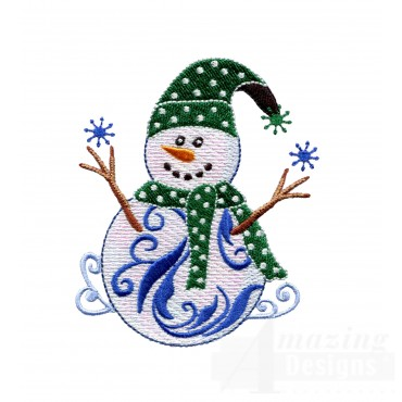 Iridescent Snowman 20 Embroidery Design