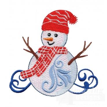 Iridescent Snowman 21 Embroidery Design