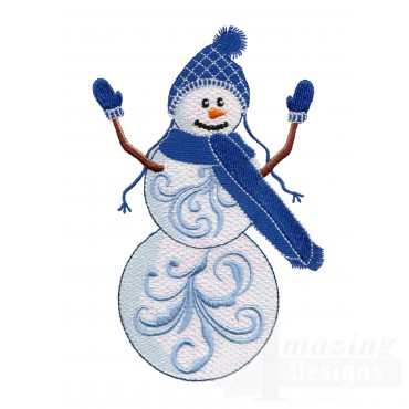 Iridescent Snowman 23 Embroidery Design