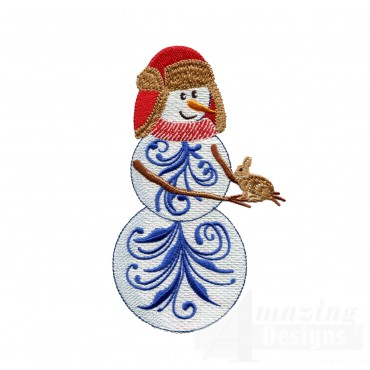 Iridescent Snowman 24 Embroidery Design