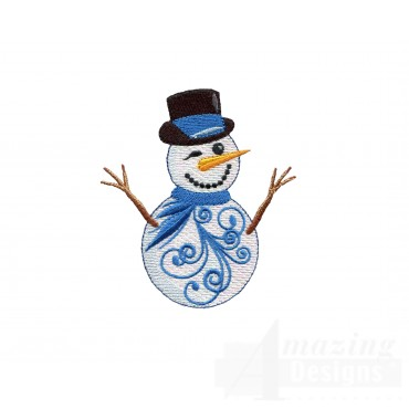 Iridescent Snowman 25 Embroidery Design