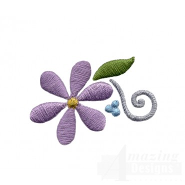 Flowering Eyelet Flower Embroidery Design
