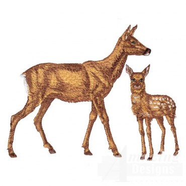 Deer with Fawn
