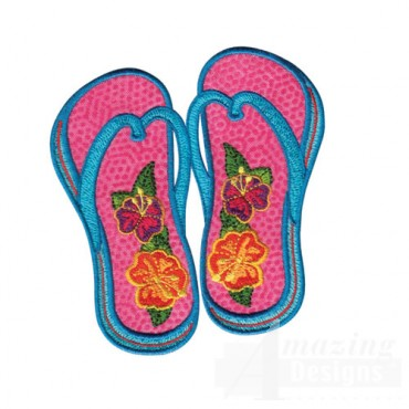 Sunglasses   Flip Flops Applique I