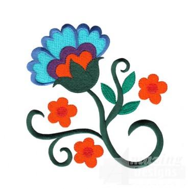 Jacobean Flower 13