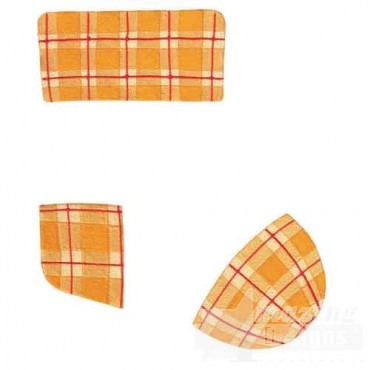 Orange Plaid Stocking 3 Pieces