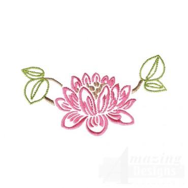 Pink Floral Outline
