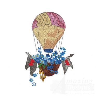 Floral Hot Air Balloon