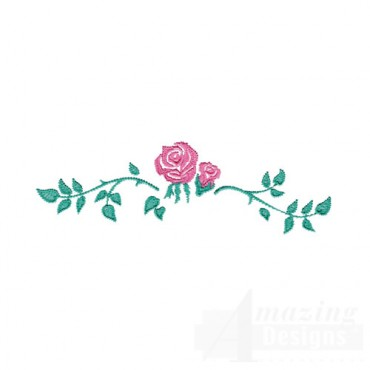 Pink Rose Border