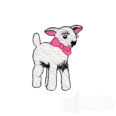 Lamb with Pink Bow
