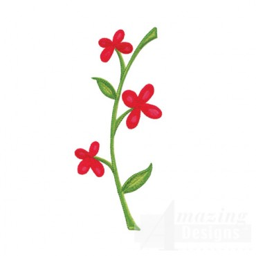 Red Flowers on Stem
