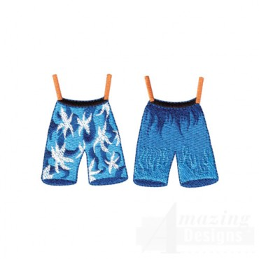 Blue Swim Trunks