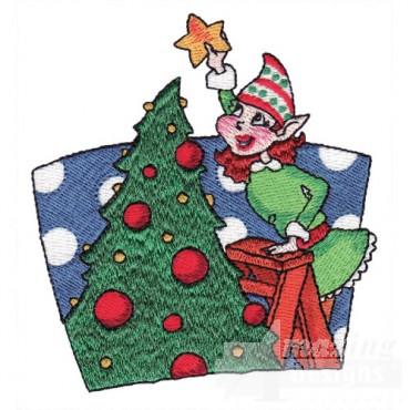 Elf With Christmas Tree