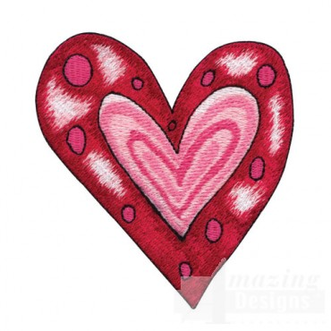 Pink and Red Heart