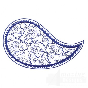Blue Rose Paisley