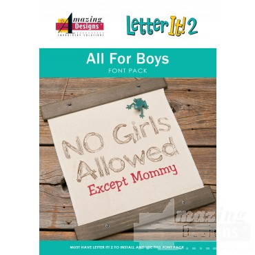 Letter It 2 All for Boys Font Pack
