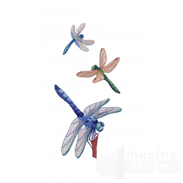 Swndd229 Dragonfly Embroidery Design