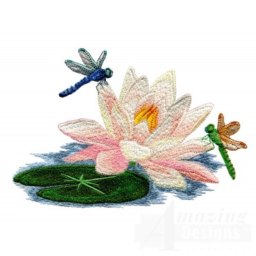 Swndd231 Dragonfly Embroidery Design