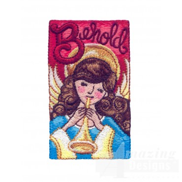 B For Behold Embroidery Design