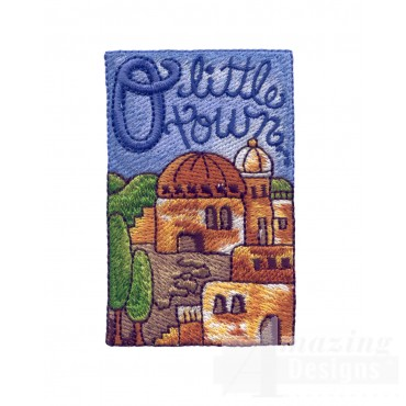 O For O Little Town Embroidery Design
