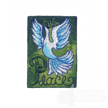 P For Peace Embroidery Design