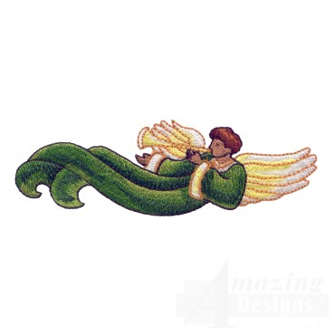 Male Angel Embroidery Design