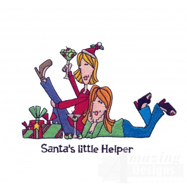 Santas Little Helper Embroidery Design