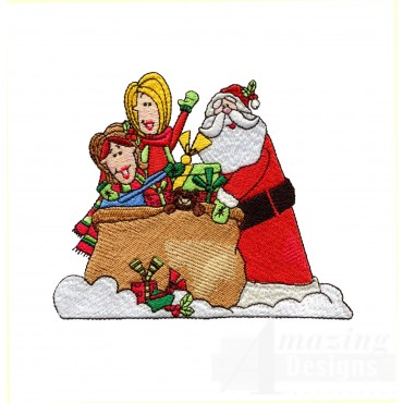 Santas Bag Embroidery Design