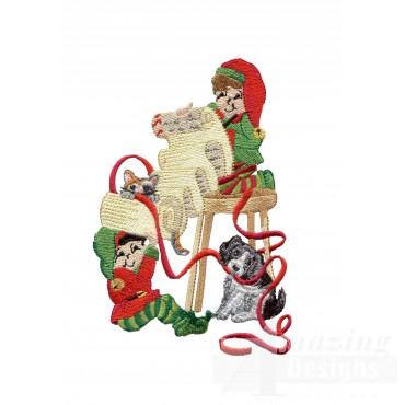 Swnsh210 Santas Workshop Embroidery Design
