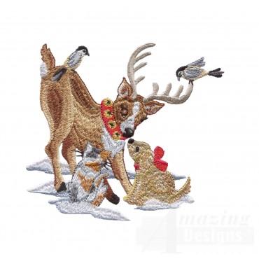 Swnsh230 Santas Workshop Embroidery Design