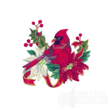 Swnrcc102 Regal Cardinal Embroidery Design