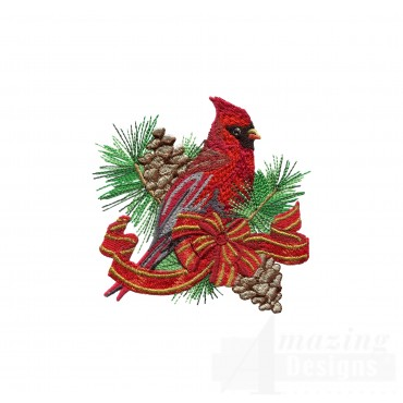 Swnrcc103 Regal Cardinal Embroidery Design