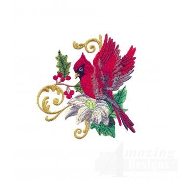 Swnrcc104 Regal Cardinal Embroidery Design