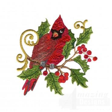 Swnrcc105 Regal Cardinal Embroidery Design