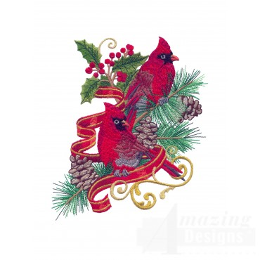 Swnrcc108 Regal Cardinal Embroidery Design