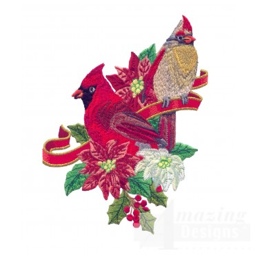 Swnrcc121 Regal Cardinal Embroidery Design