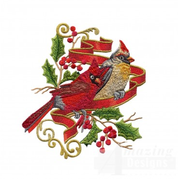 Swnrcc125 Regal Cardinal Embroidery Design