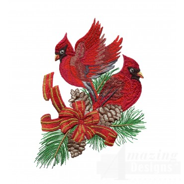 Swnrcc126 Regal Cardinal Embroidery Design