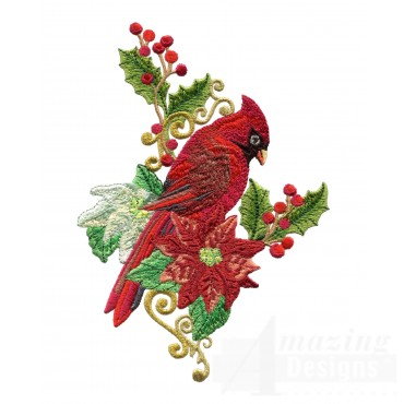 Swnrcc127 Regal Cardinal Embroidery Design