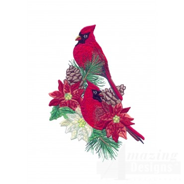 Swnrcc129 Regal Cardinal Embroidery Design