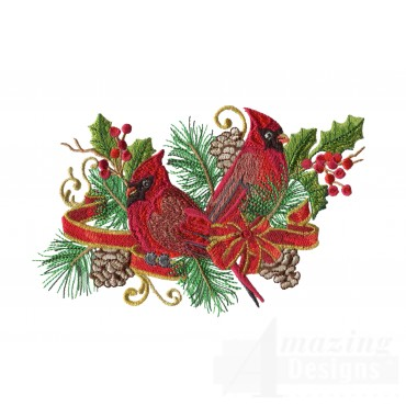 Swnrcc130 Regal Cardinal Embroidery Design