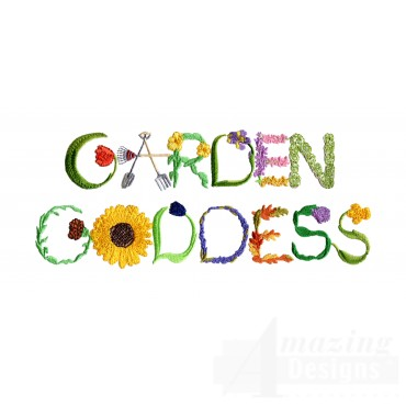 Garden Goddess Embroidery Design